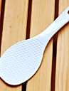 Plastique de haute qualite de riz blanc Spoon, L19cm x W6.5cm x H1cm