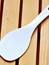 Hög kvalitet Plast Vit Rice Spoon, L19cm x W6.5cm x H1cm