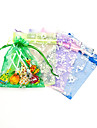 Butterfly Design Favor Bags With Ribbon - Set of 12 (More Colors)