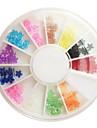 12-färg Plum Blossom Style Nail Art Strass Dekorationer