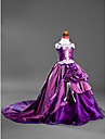 Ball Gown Court Train Flower Girl Dress - Satin/Taffeta Sleeveless
