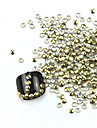 300st 3D Golden Rundhet Alloy Nail Art Golden & Silver Dekorationer
