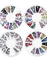 4PCS Wheel Mini STRASS Mixed Style färgrik, Nail Art Decoration
