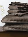 ensemble de couette huani®, 3 pieces polyester a carreaux de chocolat
