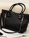 Women\'s Fashion Office Lady Quilted Shoulder Tote Bag Handbag