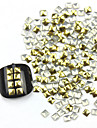 300PCS 3D Golden Square alliage Nail Art or et argent Decorations