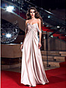 Prom / Formal Evening / Military Ball Dress - Plus Size / Petite Sheath/Column Sweetheart Floor-length Stretch Satin