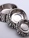 Små Zebra Applique Melamin Rund Skål med rostfritt stål skålen för hundar och katter