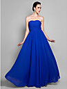 Prom / Formal Evening / Military Ball Dress - Elegant Plus Size / Petite A-line Sweetheart Ankle-length Chiffon with Draping / Ruching