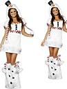 Le costume d\'Halloween de Snowwoman Blanc Fourrure femmes