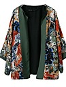 Femeii National Vânt flori de imprimare color de potrivire Coat