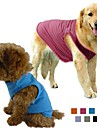 Hundar T-shirt Orange / Grön / Blå / Purpur / Svart / Grå / Ros Hundkläder Vår/Höst Enfärgat Doglemi