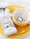 """""""Tea time"""" boule a the en acier inoxydable de coeur dans l\'elegant coffret cadeau blanc, w16.5cm xl5cm"""