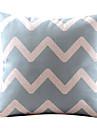 Elegant ondulat bumbac / lenjerie decorative pernă Cover