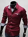 Gloire col de chemise a manches longues classique a l\'interieur de decoration de plaid shirt