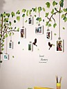 Vit fotoram Set med 9 med Wall Sticker