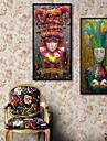 Personnes Toile Encadree / Set de Cadres Wall Art,PVC Noir Sans Passepartout Avec Cadre Wall Art