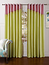 Modern Two Panels Solid Pink  Yellow Bedroom Polyester Panel Curtains Drapes