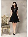 Women\'s Lace Chiffon Pleated Plus Size Dress