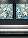 A fleurs/Botanique Toile Encadree / Set de Cadres Wall Art,PVC Blanc Sans Passepartout Avec Cadre Wall Art