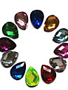 24PCS MiXs Color Glitter Water Drop Design Rhinestone Nail Art Dekorationer