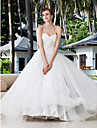 Lanting Bride Ball Gown Petite / Plus Sizes Wedding Dress-Floor-length Sweetheart Charmeuse / Stretch Satin