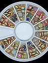 100PCS Colorful Pearl Metal Lipping Wheel Nail Art Decoration