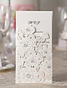 Flora Design White Wedding Invitation-Set Of 50/20