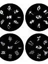 1st nagel konst stämpel stämpling bildmall platta B-serien No.45-48 (diverse mönster)