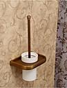 Toilet Brush Holder Antique Brass Wall Mounted 19.5*12.5*30cm(7.8*5*12inch) Brass / Ceramic Antique