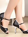 Chaussures de danse (Noir) - Non personnalisable - Talons personnalises - Similicuir - Danse latine/Salle de bal