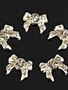 10pcs bling strass bowknot en full 3d alliage nail art de decoration