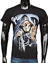 Pentru bărbați negru de bumbac Grim Reaper Țineți o seceră imprimate T-Shirt