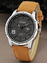Men's Watch Military Water Resistant Leather Band Cool Watch Unique Watch