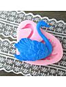 Swan forme Cuire fandant moule, L6cm * W5.5cm * H1.5cm
