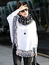 Kvinners Loose Bat Wing Sleeve dusker Hem Cloak Stil Knit Sweater Pull