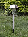 1-LED Whte Solar Stainless Steel Lawn Light Pathway Garden lampa