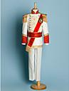 Poliester Costum Cavaler Inele - 5 Bucăți Include Jachetă / Cămașă / Pantaloni / Brâu / Bretele