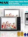 """tmax® 8 """"Video LCD della fotocamera la registrazione della carta di sostegno citofono fotografia sd 600TVL ir"""