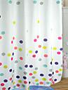 Gullig tecknad stil Colorful Polka Dots duschdraperi