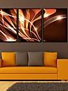 Fantezie Pânză Înrămată / Set Înrămat Wall Art,PVC Negru Fără Rogojină cu Frame Wall Art