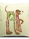 1 pcs Coton/Lin Housse de coussin,Imprime animal Moderne/Contemporain