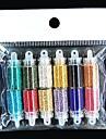 12färgs flaska små pärlor negl konst dekoration slumpmässig färg