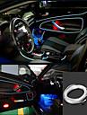 Marsing 3D Röststyrning böjlig bil Dekoration 2W 150lm 7500K Ice Blue Light EL Strip - (DC 12V / 5M)