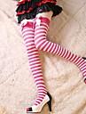 Chaussettes/Bas Doux Lolita Princesse Blanc Incanardin Accessoires Lolita  Bas Noeud papillon Couleur Pleine Pour Femme Nylon