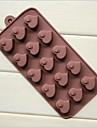15 hål hjärta persika hjärta formar kaka is jelly choklad silikon formar