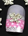 10st 3d fjäril strass legering för fingertopparna smycken tillbehör nagel konst dekoration