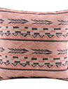 Pink Christmas Style Cotton/Linen Decorative Pillow Cover