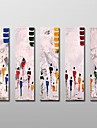 ręcznie malowane nowoczesne malarstwo olejne abstrakcyjne z rozciągniętej ramki 5 zestaw