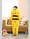 kigurumi Pyjamas Pika Pika Collant/Combinaison / Chaussons Fete / Celebration Pyjamas Animale Halloween Jaune Mosaique Toison de Coral